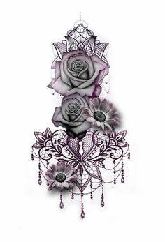 """Résultat de recherche d'images pour """"Mandala rose Flower sleeve"""""""