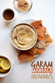 Garam Marsala Hummus | via minimalistbaker.com Brace yourself everyone; I love this site, pins incoming.