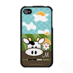 Cute Cow iPhone 4 Case from http://www.zazzle.com/black+and+white+iphone4+cases