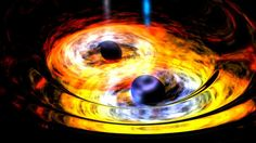Astronomers have spotted what appear to be two supermassive black holes 3.8 billion light-years from Earth, circling each other like dance partners. Image credit: NASA. (Wide-field Infrared Survey Explorer)