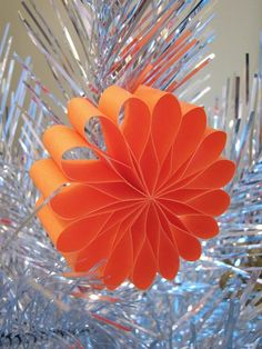 Paper flower ornaments | How About Orange