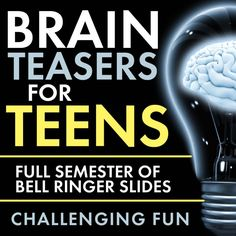 Time to add some challenging fun to your classroom routine with Brain Teasers for teens! First, give these head-scratchers a try: When you're ready, scroll down for the answers. Now, did you really…