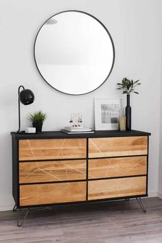 Modern Style DIY Dresser Makeover Project Have some dressers that need an upgrade? Here's how we pulled a modern and beautiful DIY dresser makeover on these two thrifted dressers! Such a fun DIY! Ashley Furniture Sofas, Trendy Furniture, Furniture Stores, Furniture Online, Diy Furniture Industrial, Cheap Furniture, Furniture Design, Asian Furniture, Furniture Cleaning