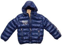 Piumino invernale cappotto giacca elegante con cappuccio caldo ragazzo  bambino 5e366db25d1