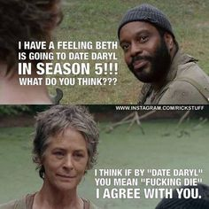 I don't get the whole Beth and Daryl thing. He is old enough to be her dad.