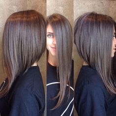 Love this dramatic A-Line Not so short in back. Love the drastic angle if I could do this I would!!