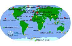 OMM confirma que concentração de CO2 na atmosfera em abril ficou acima de 400 ppm no Hemisfério Norte