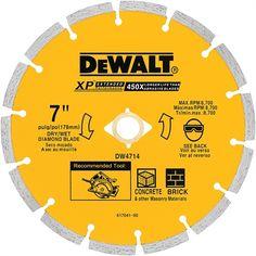 DEWALT DW4714 XP™ 7-in Segmented Diamond Saw Blade