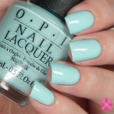 OPI Fall 2015 Venice Collection Gelato on My Mind Swatch Get Nails, Love Nails, How To Do Nails, Hair And Nails, Opi Nail Polish Colors, Fall Nail Colors, Color Melon, Mint Green Nails, Colorful Nail Designs