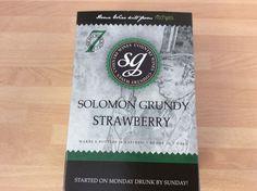 Solomon Grundy  STRAWBERRY WINE kit 6 bottles 7 days FREEPOST UK