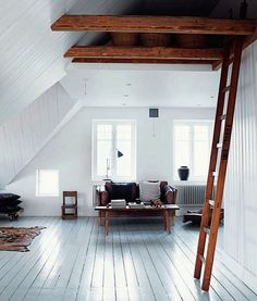 Grey blue floor