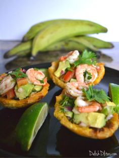 Plantain Cups with Shrimp and Avocado Salad   Delish D'Lites