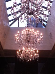 Skylight with sconcependants good idea skylights chandelier feature vaulted skylight with incredible chandeliers aloadofball Images