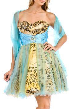 Signorita - Cheyenne Dress in Aqua