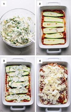 Cheesy and flavorful Zucchini Lasagna! An amazing low carb recipe that will give you ALL the lasagna feels but is made with healthy vegetables instead of pasta noodles. This easy dinner recipe is perfect for any week night meal and is all things YUM! Healthy Dinner Recipes, Low Carb Recipes, Cooking Recipes, Zucchini Lasagna Recipes, Keto Lasagna, Healthy Vegetarian Lasagna, Low Calorie Vegetarian Recipes, Lasagna With Zucchini Noodles, Recipe Zucchini