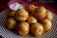 Tilapia Tots-- like a bite of battered fish and a hushpuppy combined. Gluten free low carb