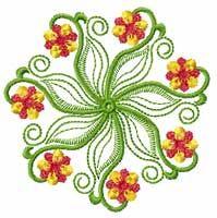 Flower Machine Embroidey Design