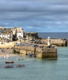 View of the pier in St Ives, Cornwall