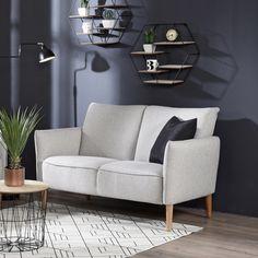 Vaalean ja tumman kontrasti luo tunnelmaa  Malli: Neve Verhoilu: Kangas, Rene 01 Pearl Vaihtoehdot: 2- ja 3-istuttava sohva, lepotuoli Jälleenmyyjä: Sotka-myymälät  #pohjanmaan #pohjanmaankaluste  #koti #olohuone #sohva #sofa #livingroomdecor #sisustus #sisustusinspiraatio #finnishdesign #designfromfinland #nordicdesign #nordichome #nordicinspiration #scandinavianhome #scandinavianstyle Decor, Love Seat, Furniture, Sectional, Home, Sofas, Couch, Home Decor