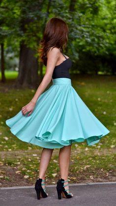 40 Everyday Fashion Looks For Women Everyday New Fashion: Minty Love by My Silk Fairytale Spring Fashion Outfits, Cute Fashion, New Fashion, Fashion Looks, Womens Fashion, Fashion Trends, Fashion Skirts, Fall Fashion, Fashion Tips