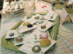 Vintage Button Clip Display, Charity Craft Fair by Wychbury, via Flickr