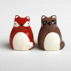 Fox Raccoon Salt - Add this to your registry on registrylove.com <3 from http://fab.com/sale/10690/product/222535?fref=pinterest