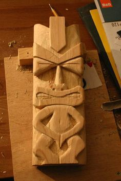 How to carve a tiki idol