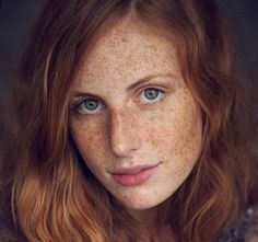 Spectacularly gorgeous! Red hair and freckles.