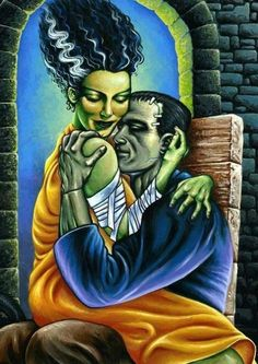 Frankenstein and his wife