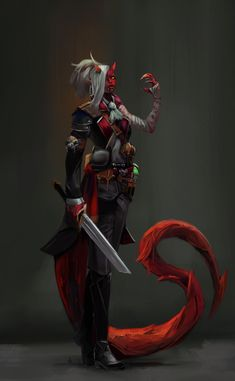 [ART] Caleri Sunset the Daevi Blood Hunter : DnD