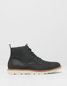 00112aecc26 Pull Bear - man - men s footwear - leather boots with toe cap detail - black  -