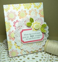 Another cute use of a doily