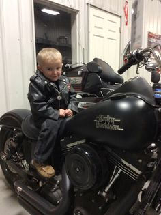 This little cutie wanted his pic on a bike since he had his jacket on.
