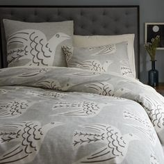 West Elm Cubist Birds duvet cover and shams. Sigh. Love so much but they're on clearance and not all pieces are available.