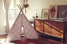 Handmade cotton teepee with bamboo poles,sewn with care and precious thoughts for your dears that will call this space their own.Keep away from fire, even when marshmallows are involved.