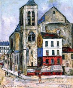 Maurice Utrillo Eglise Saint-nicolas Du Chardonnet oil painting reproductions for sale