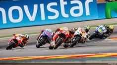 Wallpaper MotoGP Aragon 2014 - Leading Group MotoGP in Action