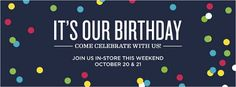 The clothing brand C. Wonder, for example, celebrated their birthday in October with a cute confetti cover photo.