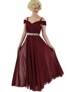 Clearance-burgundy lace and chiffon drop shoulder gown now Off. Vintage Inspired Outfits, Vintage Outfits, Vintage Fashion, Old Hollywood Style, Old Hollywood Glamour, Off Shoulder Gown, Skating Dresses, Vintage Velvet, Retro Dress