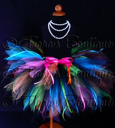 Color Explosion Tutu  Black Neon Rainbow