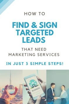 How To Find & Sign Targeted Leads That Need Marketing Services In Just 3 Simple Steps!  Are you constantly struggling, to find and close more clients in your business? Local business owners most likely don't know the importance of claiming the listing of their own business.   Just see how easy it is to use a Software and find business prospects to offer them your services.  #leads #prospects #marketing #services #software #clients #target Brand Marketing Strategy, E-mail Marketing, Affiliate Marketing, Social Media Marketing, Digital Marketing, Marketing Ideas, Business Tips, Online Business, How To Get Clients