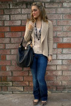 Lace with a cozy sweater