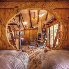 Tree house ideas will fill the minds of many families with children or even when the baby is still on the way. There are many tree house ideas where you… Continue Reading → Cabin Homes, Log Homes, Cottage Homes, Casa Dos Hobbits, Tree House Plans, Tree House Designs, Earthship, Play Houses, The Hobbit