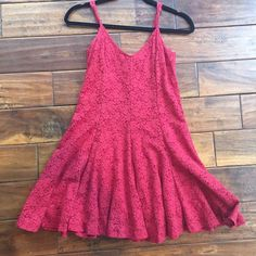 Red Lace Brandy Melville Dress