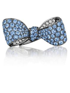 Mimi So Bow Blue Sapphire and Diamond Ring