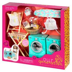 barbie Nábytek Our Generation Tumble and Spin Laundry Accessory Set Perhaps one of the most difficul American Girl Accessories, Baby Doll Accessories, Barbie Doll Set, Barbie Toys, Girl Doll Clothes, Girl Dolls, Poupées Our Generation, American Girl Doll Room, American Girl Crafts