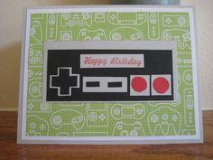 Nintendo Controller Birthday Card