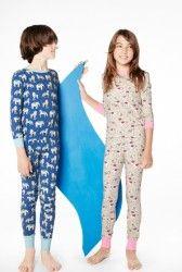 "Bedhead Tween Navy ""Three Ring Circus"" Stretch Pajama Set - The Pajama Company"