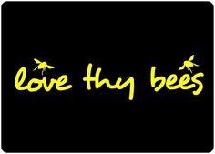 Love Thy Bees Car Window Decal