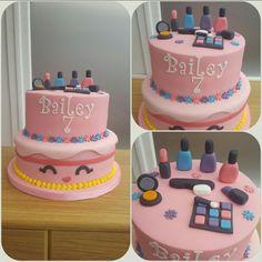 Shopkins and make up cake